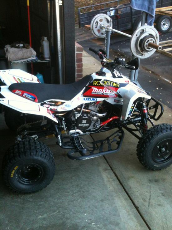 one industries rockstar makita suzuki graphics in white - suzuki