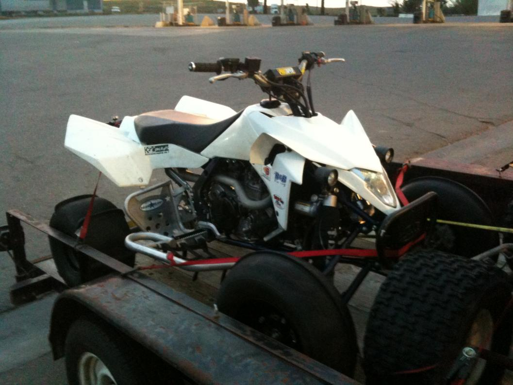 Yfz450 with shaved fenders