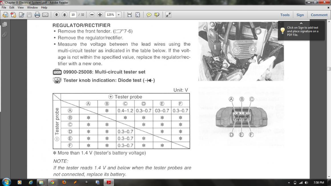 Trying to test my regulator    - Suzuki LT-R450 Forum