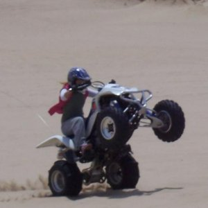 Wish I could wheelie the LTR like I used to the LTZ! :(